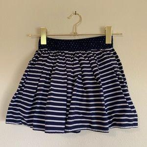 H&M Girls Shirred Skirt Navy Blue Size 7 - 8